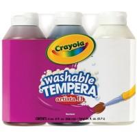 Crayola ARTISTA II Washable Tempera Paint 8oz 3 Pkg