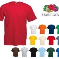 Jual Kaos Polos Fruit of The Loom Heavy Cotton Murah