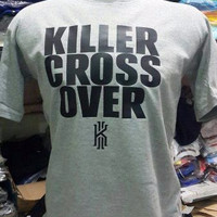 Harga t shirt kaos cotton combed 30s killer cross over white | antitipu.com