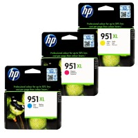 HP 951 XL OfficeJet Ink Cartridge Color (Cyan & Yellow)
