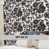 F32 Wallpaper Sticker Flower Black and White 5m