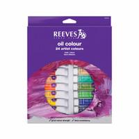 [Terlaris] REEVES Oil Colour Paint Set 24 Pcs