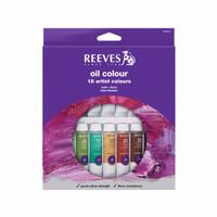 [Terlaris] REEVES Oil Colour Paint Set 18 Pcs