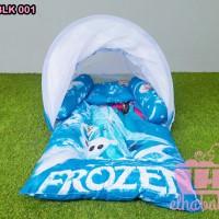 Kasur Lipat Bayi | Perlengkapan tempat tidur anak Set Kelambu Frozen