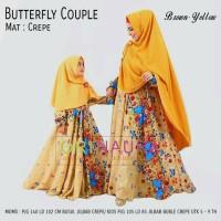 Gamis set Couple Mom n Kids Butterfly ORI NAURA