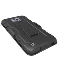 Hardcase Bumper Police Armor Belt Hard Soft Case Cover Casing LG X Cam