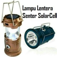 Lampu Emergency Led Lentera Solar Charger Power Bank Tarik PB Lamp Top