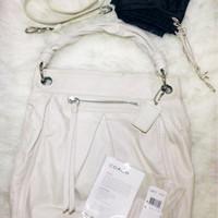 Jual COACH Large Leather Parker Hippie Bag - F13411 (Ivory) Murah