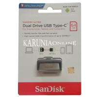 Jual SANDISK FLASHDISK USB 3 OTG TYPE C 64GB /UP TO 130 MB/S Murah