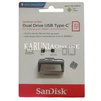 Jual SANDISK FLASHDISK USB 3 OTG TYPE C 32GB /UP TO 130 MB/S Murah