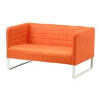 IKEA KNOPPARP Sofa dua dudukan, Orange