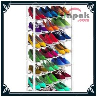 Jual Amazing Shoe Rack: Tempat / Rak Sepatu Sandal 10 Susun Rakitan Murah Murah