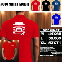 Polo Shirt Otomotif Mobil MITSUBISHI LANCER EVOLUTION X SILUET TD/Kaos