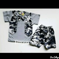 Set Rompi Army/baju Setelan Anak Laki2/baju Army Anak