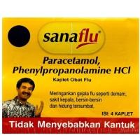 sanaflu paracetamol isi 4 kaplet obat flu