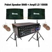 Paket Sound Karaoke Speaker BMB + Ampli LD1000B