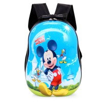 Tas Backpack Anak Hard Shell Back Pack - Blue Mickey & Donald Duck