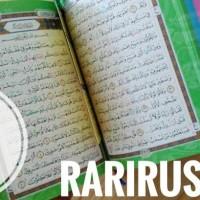 AlQuran Pelangi Hasya Full Arab Non Terjemahan A6 FREE TASBIH RAINBOW