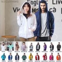 Hoodie Zipper Sleting Polos M,L,XL (17 warna)
