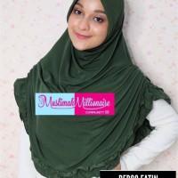 Jilbab Instan Hijab Syari Bergo Fatin by Upline warna Hijau Tua