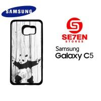 Casing HP Samsung C5 banksy graffiti panda Custom Hardcase Cover