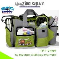 tas besar snobby/tas bayi besar botol susu/amazing grey/tas snooby