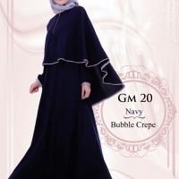 Baju Gamis Muslimah Murah Hai-Hai Gm-20 Navy