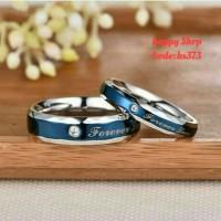 cincin tunangan biru murah Titanium asli