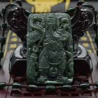 Jual liontin black jade original - kalung titanium pria Murah