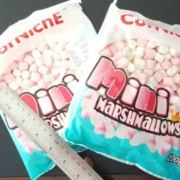 Corniche mini marshmallow / marshmellow 200gr merah putih