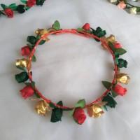Jual FLower Crown/ Mahkota bunga SINGLE mix Silver/Gold ; Aksesoris rambut Murah