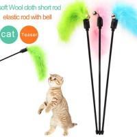 Mainan Kucing Cat Toy Tongkat Bulu Lonceng