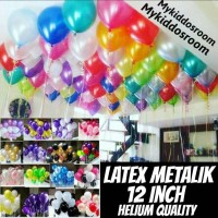 (100pc) Balon latex metalik helium china doff polkadot