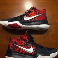 sepatu basket nike kyrie 3 samurai black red