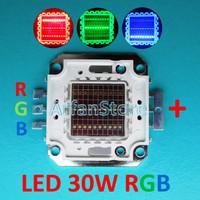 harga High Power LED HPL 30W RGB RED GREEN BLUE MERAH HIJAU BIRU 460-625nm Tokopedia.com