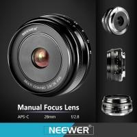 Neewer 28mm f/2.8 Lens for FUJIFILM APS-C Digital Cameras X-A1/A2/T10
