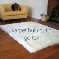 Karpet Bulu Putih 100x130cm