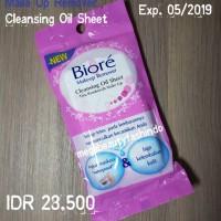 Jual BIORE Cleansing Oil Sheet / Sheets Makeup Remover Pembersih Make Up 10 Murah