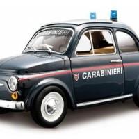 Diecast Bburago 1:24 - Fiat 500 Carabinieri