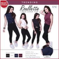 Harga roullette cross over top blouse atasan wanita | antitipu.com