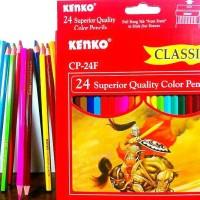 Jual Pensil warna kenko, pensil warna 24 colour panjang, colour pencils. Murah