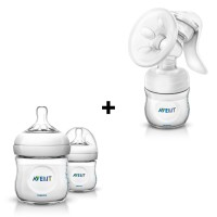 Philips AVENT Natural Bottles (0-3 months) & Breastpump (Bundle)