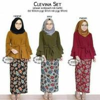 Jual setelan batik/kebaya modern/baju kondangan/baju Lebaran/clevina set Murah