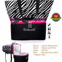 Harga tas susu asi zebra baby bow gabag cooler bag by serba loka | Pembandingharga.com