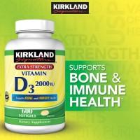 Kirkland Signature Vitamin D3 2000 IU, 600 Softgels.