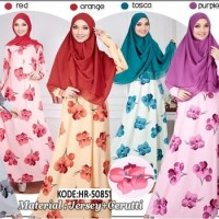 Setelan Hijab Syari Gracia / Set Baju Gamis Ceruti / Busana Muslim NY2