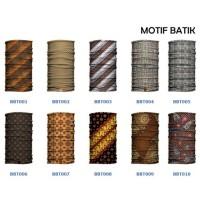 Jual Baff Bandana Motif Batik Etnik Budaya Jawa Masker Bafin Multifungsi Murah
