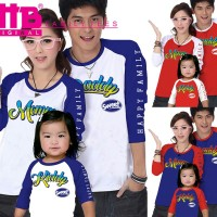 Baju Couple Keluarga Family Kaos Tees Anak Ayah Bunda VT-012
