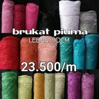 kain brukat seri piuma / kain brokat murah - HARGA PER 0,25M