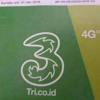 Kartu Perdana Three 3 Paket Data Internet 4GB